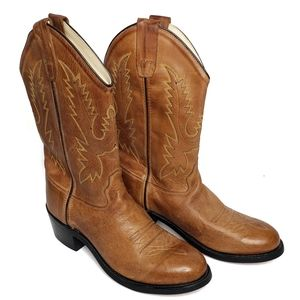 OLD WEST Tan Western Cowboy Boots